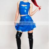 Latex Crop Top Without Zipper cheerleader costume clothing sex latex suit