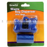 Dog waste plastic poop bag dispenser
