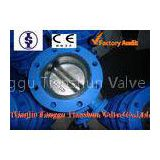 Lever / Pneumatic Actuator EPDM U Type Butterfly Valve with Ductile Iron , Stainless Steel