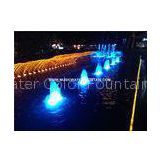 Cast iron Outside Fountain , Backyard Water Fountains With IP 68 RGB Multicolored Led Light