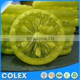 60-Inch Inflatable Heavy-Duty Swimming Pool Lemon Slice Float