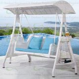 Outdoor Furniture Patio Swings Wicker Swinging Chair for Garden in White Color