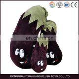 High quality soft plush pillow eggplant vegetable shape cushions