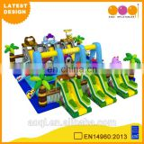 2015 AOQI latest design commercial use giant inflatable safari fun city for kids for sale