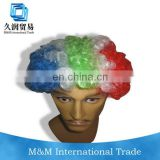 South Africa flag color sports promotional gift fans wigs