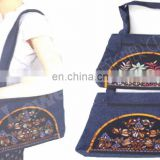 cotton denim shoulder bags