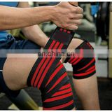 Crossfit Leg squats Custom Logo And Size Heavy Duty Elastic Knee Wraps