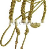 Aiguillettes | Hand Knitted Gold Bullion wire Uniform Aiguillettes with Metal Tips | Shoulder Cords | Dress Cords