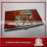 Hot Sale Cheap High Quality Standard Size Custom Domed Logo Unique Metal Name Card Holder