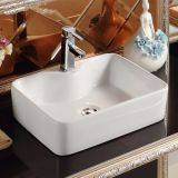 White good quality ceramic tabletop washbasin sink