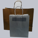 White Brown Color Kraft Paper Shopping Bag
