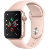 Apple Watch Series 5 (GPS Only, 40mm, Gold Aluminum, Pink Sand Sport Band) Price 90usd