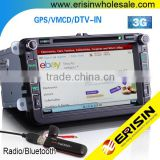 "Erisin ES8015V 8"" Car Multimedia System DVD 3G Bluetooth for Golf 6 Caddy"