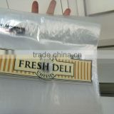 Fast Food Saddle Zipper top bags for Fresh Deli ziplock bags resealable bags plastic food bags