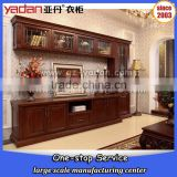 wholesale wood led tv stands, tv cabinet with glass showcase