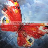 Hand Painted Modern Knife Animals Butterfly Pictures Oil Painting