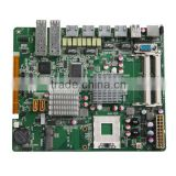 fanless cpu motherboard ,GM45-6LAN(B),support maximum Intel quad-core processors