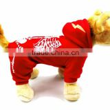 Wholesale Luminous shock dragon Spring Autumn Single Layer skeleton Pattern Red Dog Clothes Pet Garment