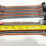1P-1P Dupont Male to Female Jumper Wire 20cm 40P Color Rabbon Breadboard Cable