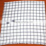 Fashionable voile plaid printed square scarf checked scarf fancy yarn for knitting scarf