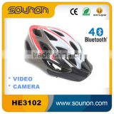 Bluetooth Sport Helmet with Camera, Video Helmet for bicycle, motorcycle, 2015 New Smart Helmet with CE, ROHS for Video Shoot.