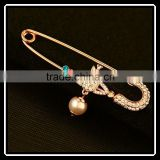 Cheap Costume Jewelry Rhinestone Crown Pearl Brooch Wholesale King Crystal Brooch Pins For Women