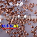 6mm tea color resin stone beads non hot fix , flat back resin beads diamantes for nail art