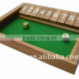 challenging shut the box ,funny wooden game set ,board game set