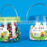 PP+PET+PVC 10.8*10.8*10.8 Kitchen gadgets sealed jar/clear plastic candy jars/portable sealing tank