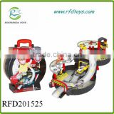 New product b/o cartoon parking lot tire railway car
