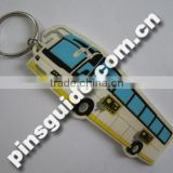 2D Custom Car Shape Soft PVC Keychains