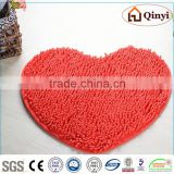 NEW Bottom price hot sell shiny chenille living room mat / Chenille mat-QINYI