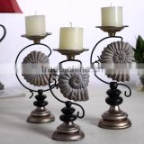 2015 new style three piece a set Retro and Europe resin antique candle holders for wedding decorations from China