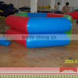 Amusing low price high quality pvc double layers small size inflatable water pool for family