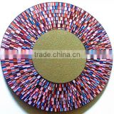 Mosaic mirror glass wholesale with mosaic and wooden almirah designs with mirror