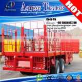 Tri axles heavy duty 40feet flat deck bogie cargo trailer for Saudi Arabia                                                                                                         Supplier's Choice