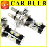 12V 80w/60w/50w H4 High Power led fog lamp HID Xenon White Headlight Led Vehicles Car Fog Lights Bulbs