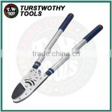 "69.5-101.6cm 27""inch-40""inch ratchet SK5 blade telescopic patent aluminum 4 level gear ratchet Anvil Lopper"
