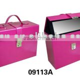 Decorative leather jewelry box with metal closure made in Shantou wholesale