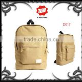Fashion trendy custom cheap blank cavans bag for men khaki cute canvas backpack wholesale