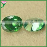 Alibaba in Brazil machine cut synthetic aaa oval 6*8mm rough synthetic emerald gemstone