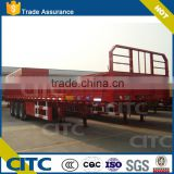high bed type tri axle side wall semi trailer for bulk goods, tridem cargo semi trailer with grid plate cover