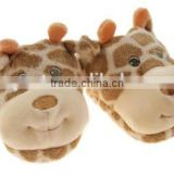 Cheap Plush Indoor giraffe shape Warm Winter Slippers and Shoes for Kids / OEM factory with ICTI audit kids shoes