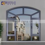 Rogenilan 45 series arched french aluminum casement window for balcony