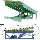 Stroke 0.95-1.5m hydraulic loading and unloading ramp equipment