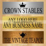 personalised metal brass any name stamping name plate/way door name /sign plates designs