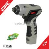 EBIC dc motor industrial small cordless mini rechargeable screwdriver 12V