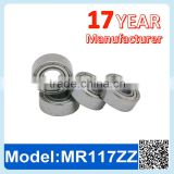 MR117 ZZ RS Miniature Ball Bearing Deep Groove Ball Bearing