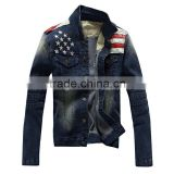 2015 Cowboy Design Men Slim Jeans Jackets American Army Style Man's Jeans Clothing Denim Jacket for Men Plus Size XXXL