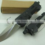 Black Version 57A Folding Blade Knife Rescue Knife Outdoor Knife Survival Knife with Glass Fiber Handle